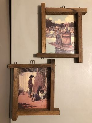 Vtg 60's Jim Daly Rustic Wall Pictures-Huck Finn for Sale in Bunker Hill, WV