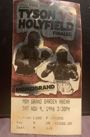 Tyson vs Holyfield Ticket for Sale in Philadelphia, PA