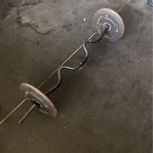 Curl Bar & weights for Sale in Sacramento, CA