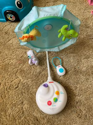 Musical carrousel with night light and figures for Sale in Fort Worth, TX