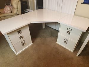Pottery Barn Sold Wood Corner Desk for Sale in Puyallup, WA