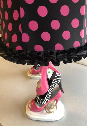 Zebra hot pink lamp set for Sale in Newark, OH