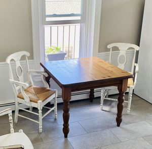 Pottery Barn country kitchen dining table rustic chairs set for Sale in Philadelphia, PA