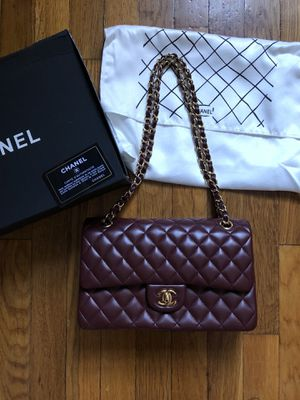 Chanel burgundy flap bag for Sale in New York, NY