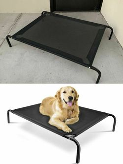 New in box Large size raised dog pet cot bed 45x30x8 inches tall for pets up to 90 lbs capacity elevated cuna de perro for Sale in Whittier,  CA