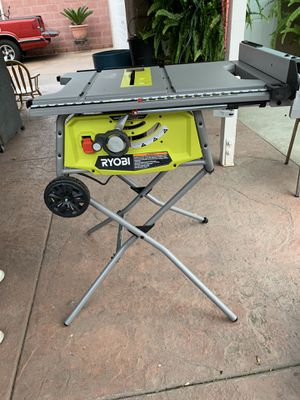 Ryobi 10in Table Saw w/ Rolling Stand for Sale in Garden Grove, CA