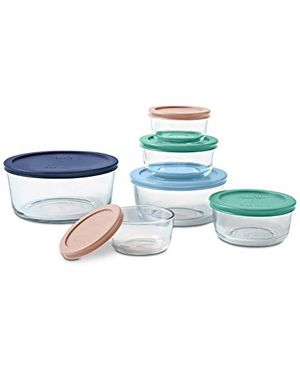 Pyrex Simply Store 12 Piece Round Glass Containers for Sale in Winthrop, MA