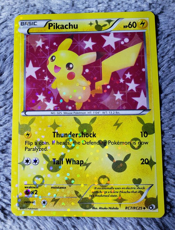 Pikachu RC7/RC25 Legendary Treasures Radiant Collection RARE HOLO Pokemon Card