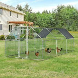 Galvanized Metal Chicken Coop Càge with Cover for Sale in Las Vegas, NV