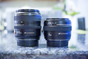 Canon EF 50mm f1.4 and Canon EF 28-105 f3.5-4.5 II USM lenses for Sale in Germantown, MD