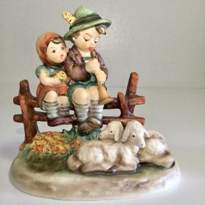 Beautiful Hummel Goebel Eventide #99 Sitting on Fence with Sheep Figurine TMK-5 for Sale in Brooklyn, NY