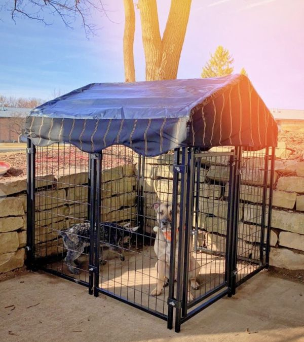 NEW Dog Crate Kennel with UV Cover Heavy Duty Steel Rust Resistant Home for Cats Pets Small Animals