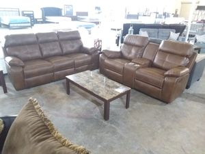 Leather RECLINING sofa and loveseat for Sale in Dallas, TX