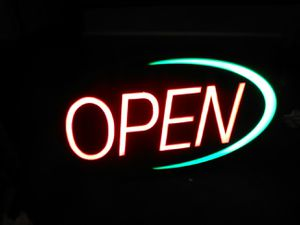 Light up open sign for Sale in Oklahoma City, OK