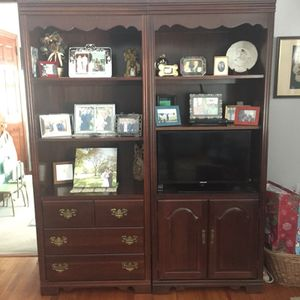 Book shelves storage unit media console tv stand for Sale in Pittsburgh, PA