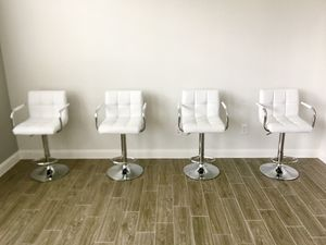 Bar Stools Set of 4 Modern Square PU Leather Adjustable Counter Height Stools for Sale in Houston, TX