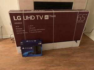 """65"""" 4K LG TV and PS4 Pro for Sale in Las Vegas, NV"""