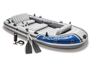 Intex Excursion 5 Person Inflatable Rafting and Fishing Boat for Sale in Garland, TX