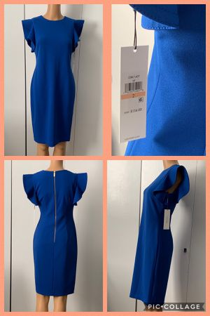 Brand New Calvin Klein Ruffle-Sleeve Sheath Dress Size 2 for Sale in Westminster, CA