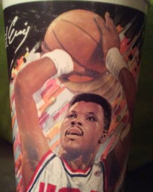 Collectible cup from the 92' Dream Team with Patrick Ewing for Sale in Greenville, MS