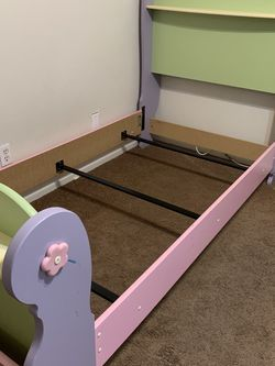 Princess Twin Bed Frame with Foot And Head Boards for Sale in Glendora,  CA