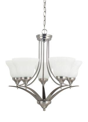 """5-Light 24.75"""" W Brushed Nickel Chandelier For Indoor Lighting Fixture Living Room Bedroom for Sale in Henderson, NV"""