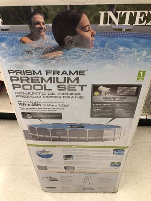 18ft x 48in Prism Frame Premium Pool Set. for Sale in Lakewood, CO
