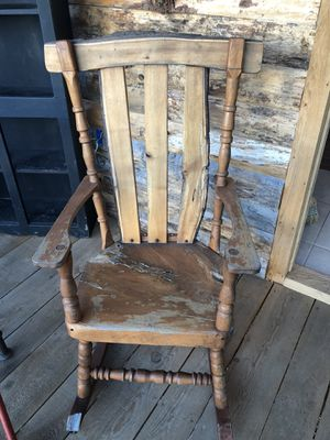 Vintage Repurposed Solid Wood Rocking Chair for Sale in PA, US
