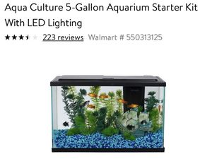 5 Gallon Fish Tank with Accessories for Sale in Portland, OR