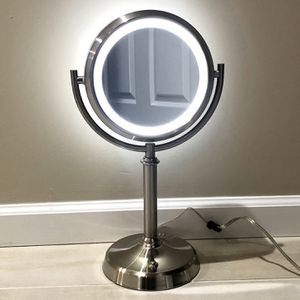 "Professional 8.5"" Lighted Makeup Mirror, 10X Magnifying Vanity Mirror with 32 Medical LED Lights, Senior Pearl Nickel Cosmetic Mirror,Brightness for Sale in Los Angeles, CA"