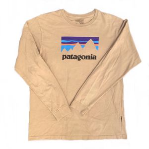 Men's Patagonia spell out logo long sleeve tshirt for Sale in Los Angeles, CA