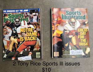 Sports illustrated Tony Rice 2 issues for Sale in Wellford, SC