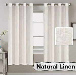H.VERSAILTEX Living Room Linen Curtains Home Decorative Nickel Grommet Curtains for Sale in Lincoln Acres, CA
