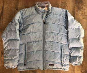 Patagonia Women's M Down Jacket Sky Blue Goose Light Blue Puffer 84610 Outdoor for Sale in Valencia, CA