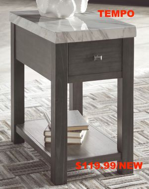 Wineburg End Table, Gray/White for Sale in Garden Grove, CA