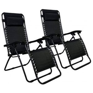 Folding Outdoor Lounge Chairs Reclining Footrest Pool Furniture Pair Set Two Deck Garden Yard Patio for Sale in Chicago, IL