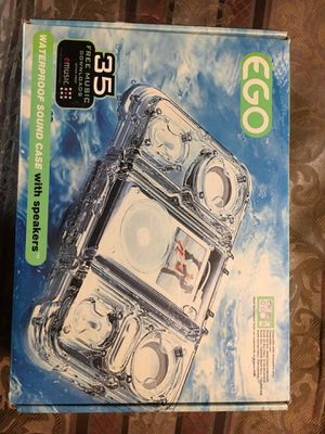 EGO waterproof Sound Case with Speakers for Sale in Buda, TX