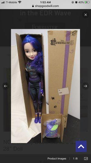 "Disney descendants 3 28"" Mal doll IOB for Sale in Arlington Heights, IL"