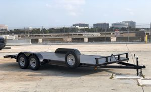 "2020 steel deck 82""x20' car hauler, car trailer, toy hauler, trailer for Sale in Pompano Beach, FL"