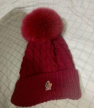 Moncler dark pink berretto knit hat dark pink brand new for Sale in Edison, NJ