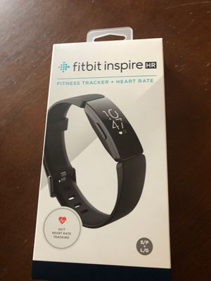 Brand New In Box (Never Opened) Fitbit Inspire HR Black for Sale in Whittier, CA