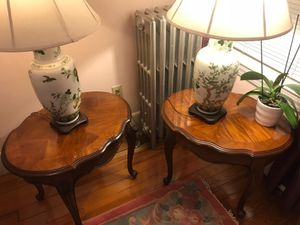 Twin end tables & twin lamps for Sale in Chelsea, MA
