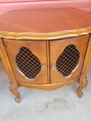 Coffee Table $30 Drum End Table $40 Square End Tables $20 each firm price French Pavilion MCM for Sale in Tempe, AZ