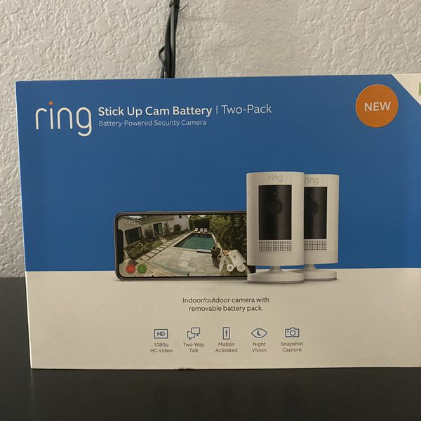 Ring Stick Up Cam Battery HD security camera with two-way talk!!! BRAND NEW!!