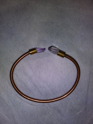 Jewelry Handmade Mexican Copper and Amethyst Bracelet for Sale in Dallas, TX