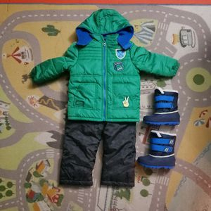 Snowsuit 3T/ Snow Boots 8 for Sale in Chula Vista, CA