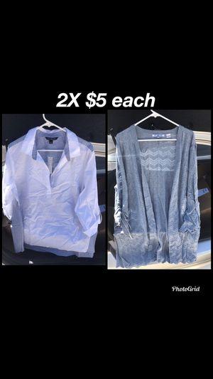 2X shirt & 2X cardigan for Sale in Las Vegas, NV