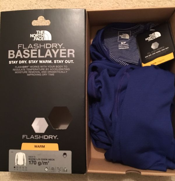4 Brand New Men's The North Face FlashDry Baselayer - Warm