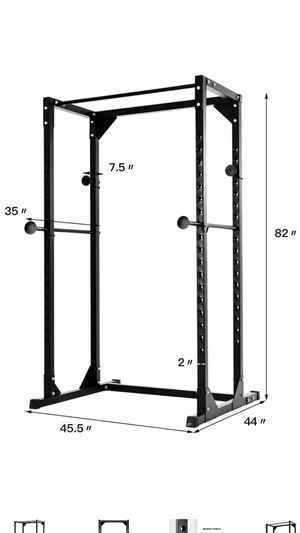 Costway Adjustable Dumbbell Rack Cage Chin up Squat Stand Fitness Strength Traning Gym New in box for Sale in North Potomac, MD