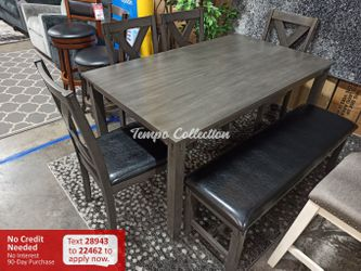 New 6pc Dining Set, Grey, SKU# PDXF2548TC for Sale in Norwalk,  CA